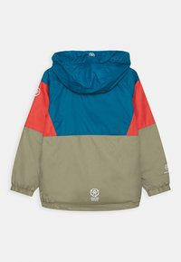 Color Kids - JACKET BLOCK UNISEX - Waterproof jacket - blue/red/khaki - 1
