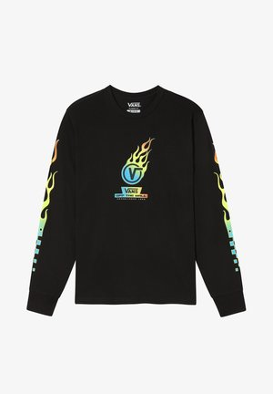 GLOW FLAME - Long sleeved top - black