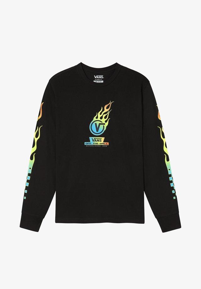 GLOW FLAME - Bluzka z długim rękawem - black