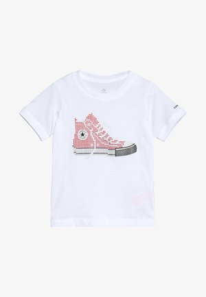PIXEL CHUCK TEE - T-shirt con stampa - white