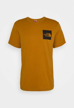 FINE TEE - T-shirt z nadrukiem - timber tan