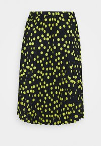 CAPSULE by Simply Be - PRINT PLEATED MIDI SKIRT - Pleated skirt - black/lime - 3