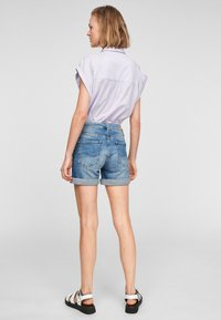 Q/S designed by - Denim shorts - medium blue - 2