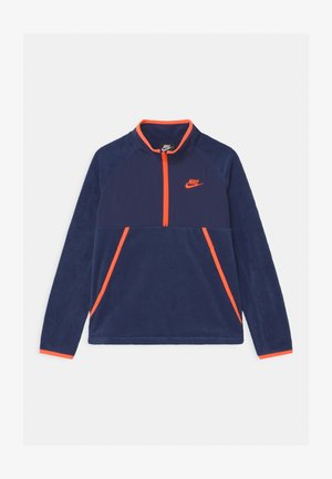 WINTERIZED - Felpa in pile - midnight navy/hyper crimson