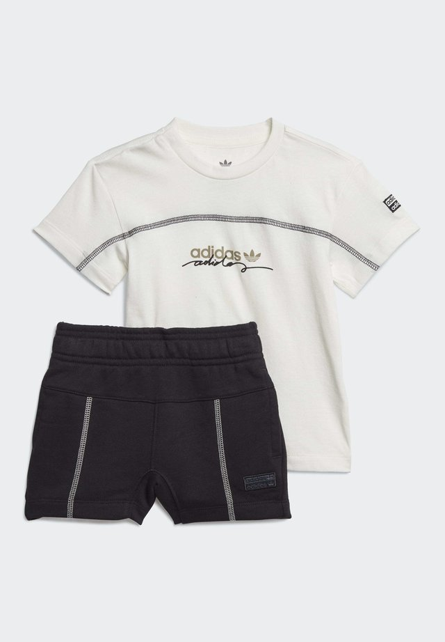 R.Y.V SHORTS AND TEE SET - Pantalón corto de deporte - white