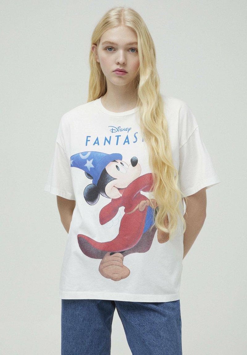 PULL&BEAR - DISNEY - T-shirt con stampa - white