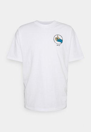 TEE FRACTURE UNISEX - T-shirt z nadrukiem - white