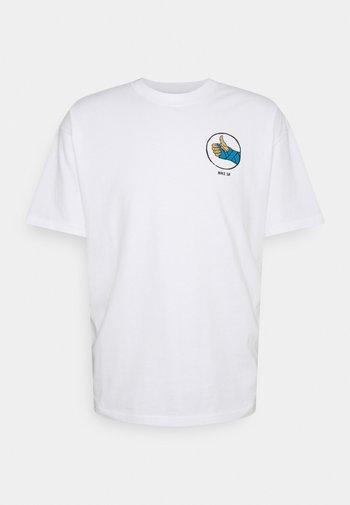 TEE FRACTURE UNISEX - T-shirt med print - white