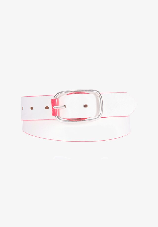 Belt business - white-pink