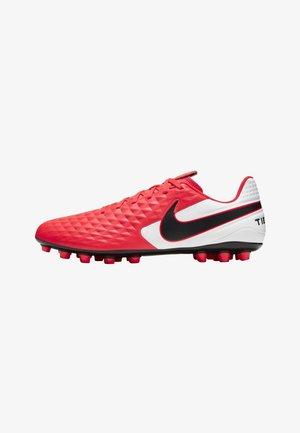 Moulded stud football boots - laser crimson/white/black