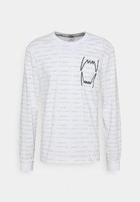 HOOPS TEE - Long sleeved top - white