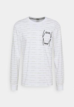 HOOPS TEE - Långärmad tröja - white