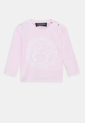 MAGLIETTA MANICA LUNGA UNISEX - Long sleeved top - rosa/bianco
