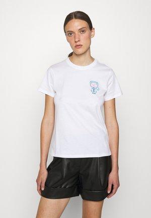 IKONIK OUTLINE TEE - Print T-shirt - white