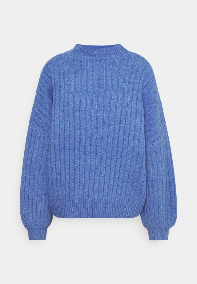 OVERSIZED WIDE RIB JUMPER - Stickad tröja - light blue