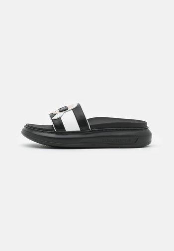 KAPRI IKONIC SLIDE - Mules - black/mono