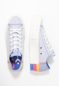 Converse - CHUCK TAYLOR ALL STAR LIFT RAINBOW - Joggesko - ozone blue/vintage white - 3