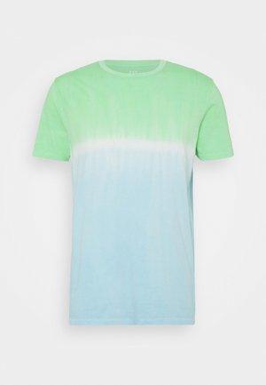 CREW TIE DYE - Print T-shirt - blue/green
