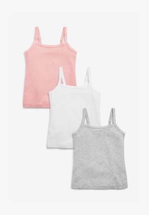 3 PACK - Top - grey, white, pink