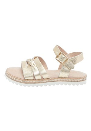 GOLD LEATHER PLAIT SANDALS (YOUNGER) - Sandály - gold