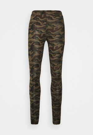 KAPAPPI  - Leggings - Trousers - green/brown