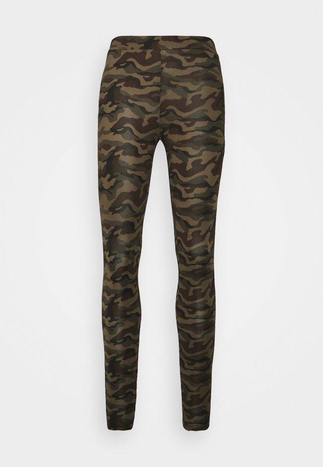 KAPAPPI  - Leggings - green/brown