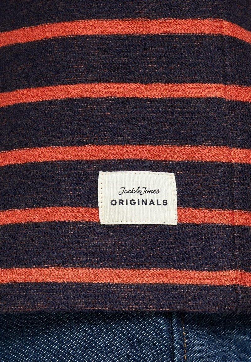 Jack & Jones SWEATSHIRT GESTREIFTES - Langarmshirt - burnt ochre/ocker to0DPb