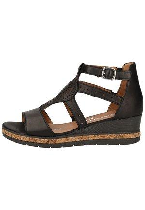 Sandalen met plateauzool - schwarz 1