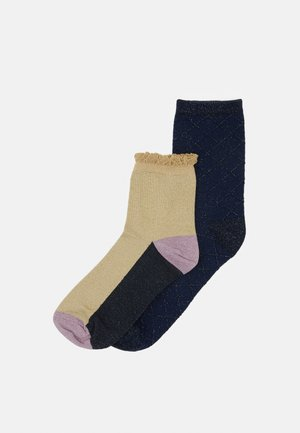 MIX SOCK 2 PACK  - Socks - sandstone/solid navy