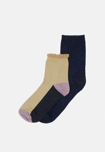 MIX SOCK 2 PACK  - Socks - sandstone/solid navy
