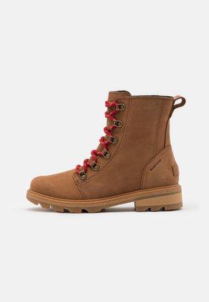LENNOX LACE - Lace-up ankle boots - cognac