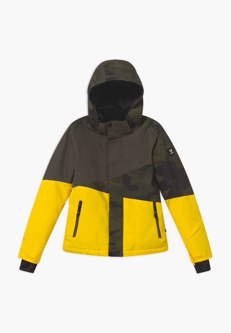 Brunotti - IDAHO BOYS - Snowboard jacket - cyber yellow