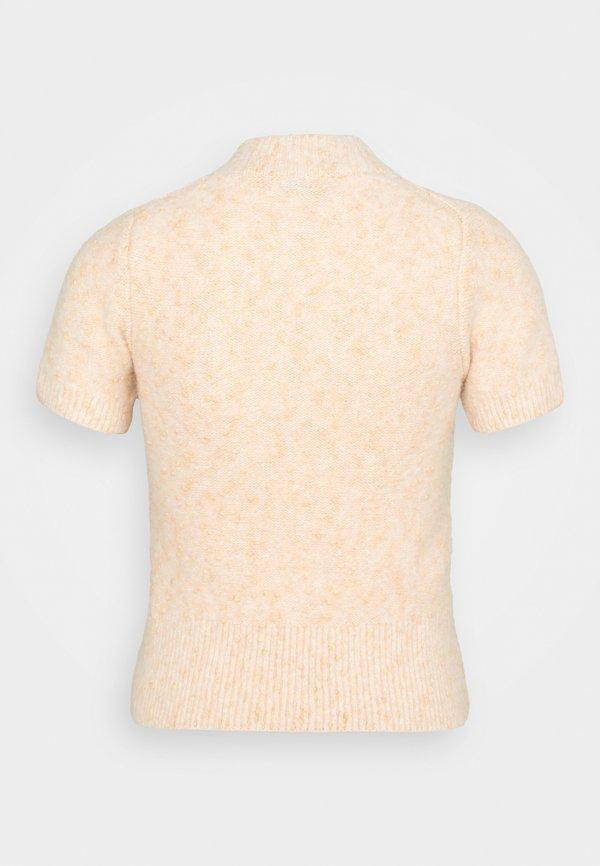 sandro T-shirt basic - beige/rosé Melanż Odzież Damska SKOL SN 1