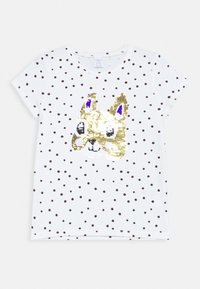 Lindex - SEQUINS - T-shirt print - light dusty white - 0