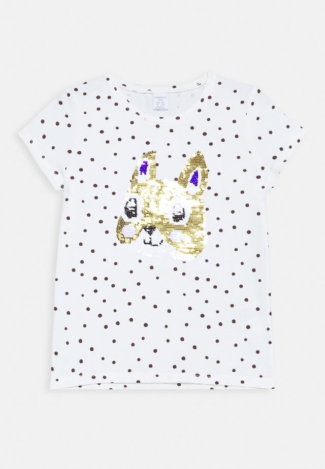 SEQUINS - Print T-shirt - light dusty white