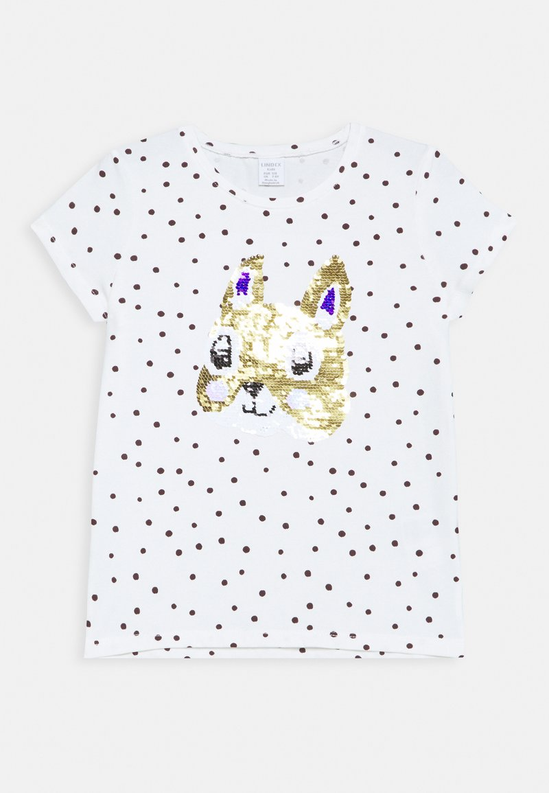 Lindex - SEQUINS - T-shirt print - light dusty white