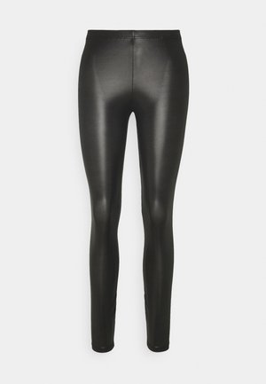 VMROCK ON SHINY COLOR - Leggings - Trousers - black