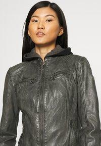 Gipsy - NOLA LAGA - Leather jacket - grey - 5