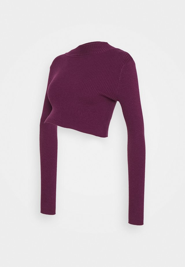 LONG SLEEVE  - Sweter - grape wine