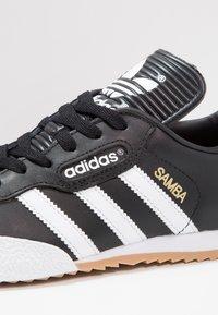 adidas Originals - SAMBA SUPER - Trainers - black/running white/footwear white - 5