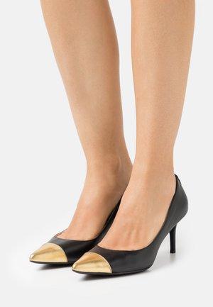 LANETTE - Classic heels - black/modern gold