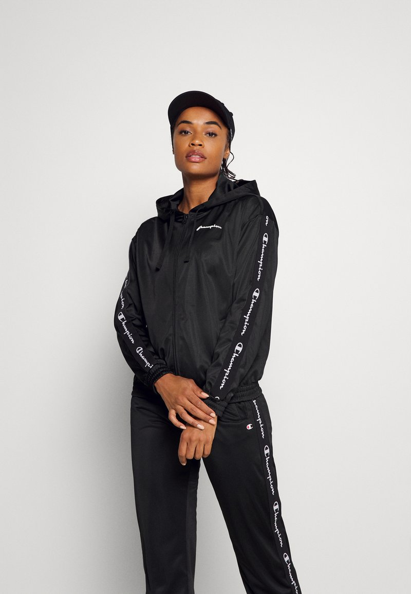 Champion - HOODED FULL ZIP - Training jacket - black