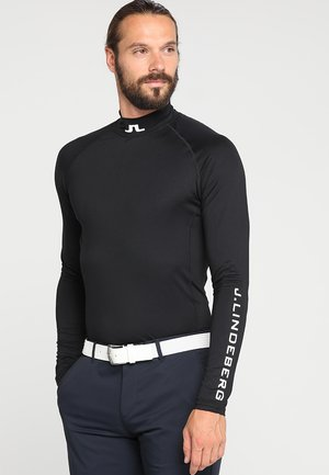 AELLO SOFT COMPRESSION - Long sleeved top - black