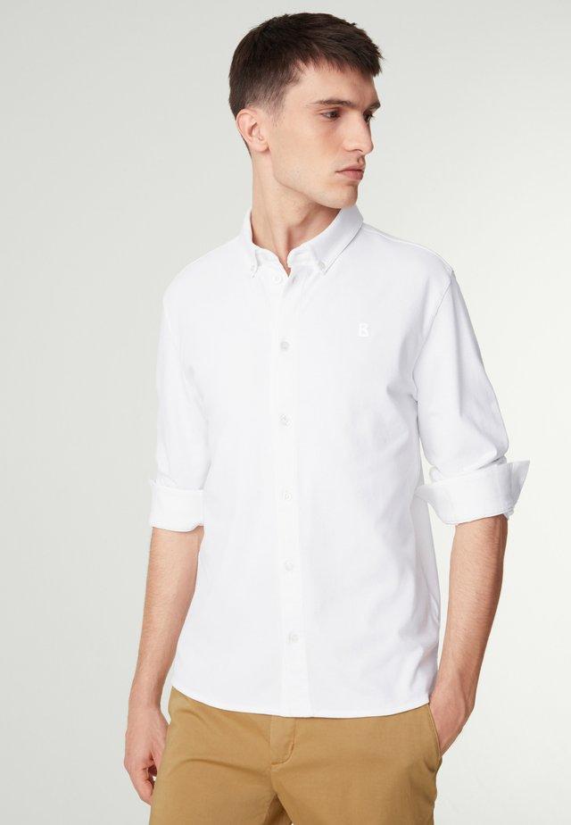 PIQUÉ HEMD  - Koszula - weiß