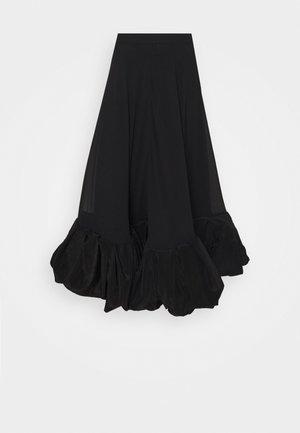 ALLEGRA SKIRT - Jupe longue - black/black
