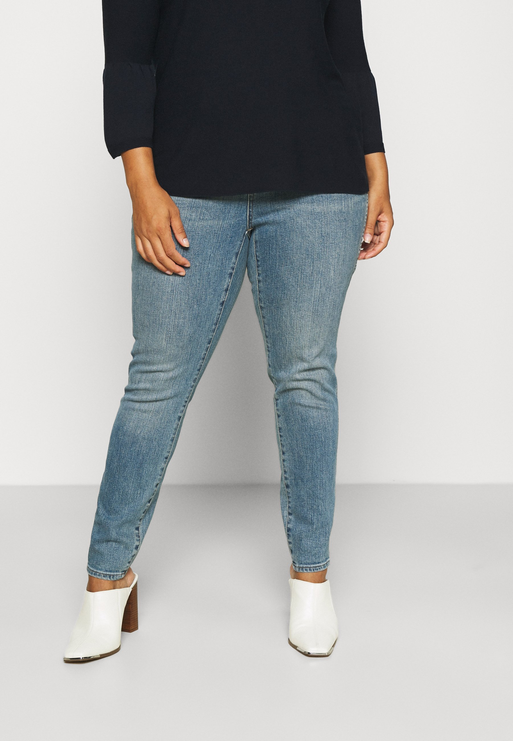 Damer HIGH RISE - Jeans Skinny Fit