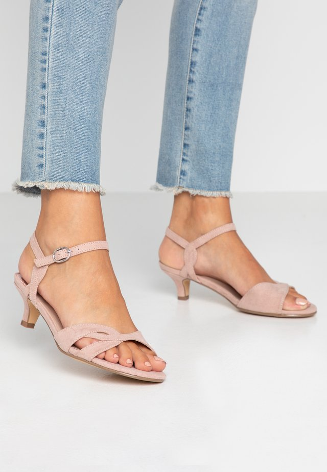 WIDE FIT SUNRAY TWIST LOW HEEL - Sandals - nude