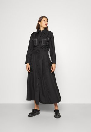DETAILED DRESS - Day dress - black