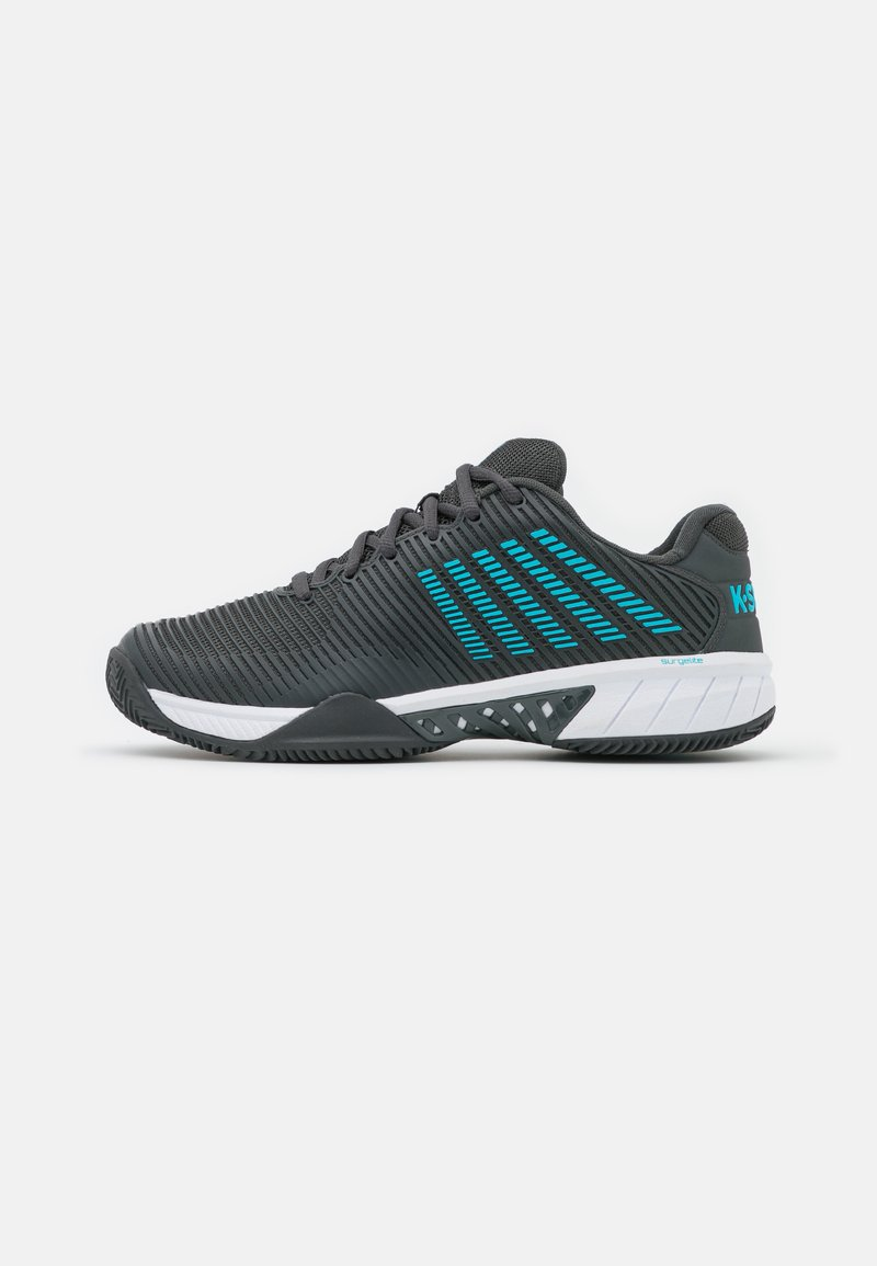 K-SWISS - HYPERCOURT EXPRESS 2 HB - Clay court tennis shoes - dark shadow/scuba blue/white