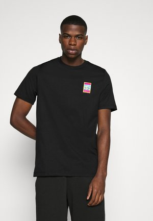 SPORTS INSPIRED SHORT SLEEVE TEE - T-shirts print - black